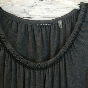 Like new Elie Tahari scoop accent chest soft top M